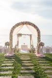 Beach Wedding Setup Stock Images