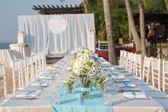 Beach Wedding setup Royalty Free Stock Images