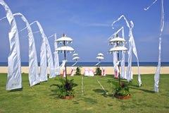 Beach wedding setup in Bali, Nusa Dua, Indonesia. Colourful Beach wedding setup in Bali, Nusa Dua, Indonesia Royalty Free Stock Images