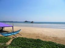 On the beach of Weligama / Sri Lanka Stock Photos