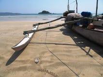 On the beach of Weligama / Sri Lanka Royalty Free Stock Photo