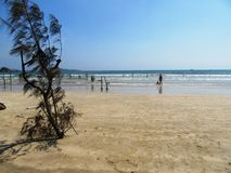 On the beach of Weligama / Sri Lanka Royalty Free Stock Image
