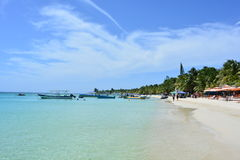 Beach of West Bay in Roatán, Honduras Stock Photo