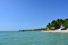 Beach of West Bay in Roatán, Honduras Stock Photos