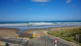 Beach. West coast beach Tasman Sea New Zealand stock images