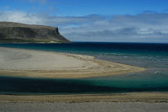 Beach in Westfjord, Iceland royalty free stock photos