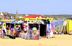 On the beach, Weymouth, Dorset. Royalty Free Stock Photography