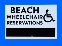 Beach wheelchair Stock Image