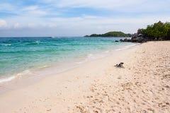Beach. White beaches, blue sea, ideal for relaxation Royalty Free Stock Photos