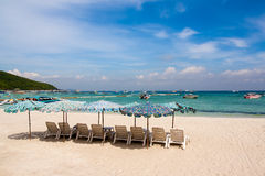 Beach. White beaches, blue sea, ideal for relaxation Royalty Free Stock Images