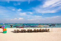 Beach. White beaches, blue sea, ideal for relaxation Stock Photo
