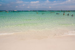 Beach. White beaches, blue sea, ideal for relaxation Royalty Free Stock Photography