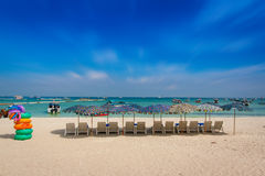 Beach. White beaches, blue sea, Pattaya Royalty Free Stock Image