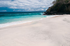 Beach with white sand Royalty Free Stock Photography