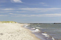 Beach with white sand Stock Images