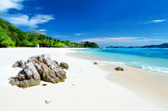 White sand beach. Malcapuya island, Coron, Philipp. Ines Royalty Free Stock Image