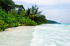 Beach with white sand of Tachai island Royalty Free Stock Photography
