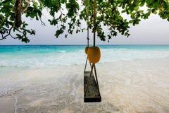 Beach with white sand of Tachai island Stock Image