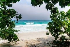 Beach with white sand of Tachai island Stock Photo