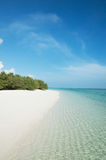Beach with white sand and turquoise sea Royalty Free Stock Photography