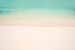 Beach with white sand and turquoise water Royalty Free Stock Photo