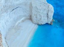 Beach with white sand (Zakynthos, Greece) Royalty Free Stock Photography