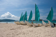 Beach whith boat Royalty Free Stock Images