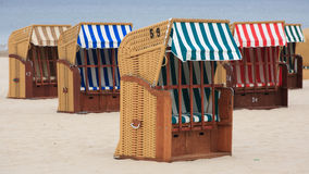 Beach Wicker Chairs Stock Photos