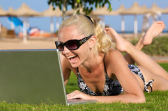 Beach WiFi. Stock Photography