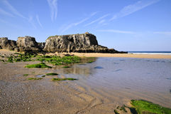Beach on the wild coast at Quiberon Stock Images