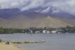Beach. Wild beach near blue lake Royalty Free Stock Image
