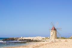 Beach windmill Royalty Free Stock Photo