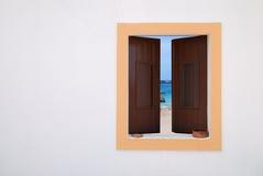 Beach Window Royalty Free Stock Photos