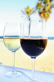Beach wine Stock Image