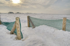 Beach in winter stock photography