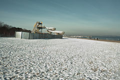 The beach in winter. Stock Photos
