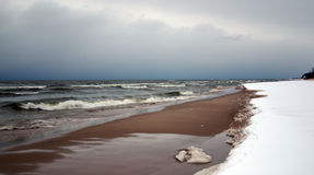Beach in winter Royalty Free Stock Photos