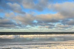 Beach in winter stock photo