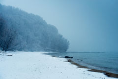 Beach in winter Stock Photo