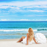 Beach woman Stock Photo