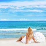 Beach woman Stock Photo