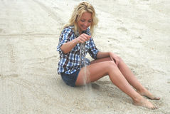 beach woman Στοκ φωτογραφίες με δικαίωμα ελεύθερης χρήσης