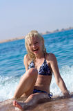 Beach woman stock images
