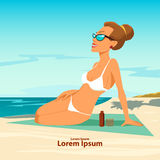 Beach woman Royalty Free Stock Images