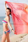 Beach woman freedom Royalty Free Stock Photography