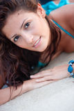 Beach woman portrait Stock Image