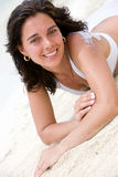 Beach woman relaxing Royalty Free Stock Photo