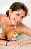 Beach woman smiling Stock Photography