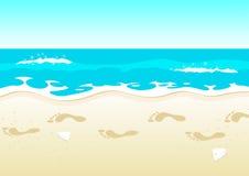 beach woman young διανυσματική απεικόνιση