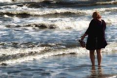 beach woman young Fotografering för Bildbyråer